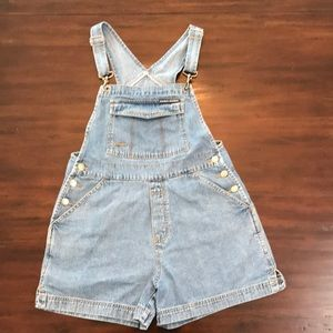London & London Vintage Denim Overall Shorts